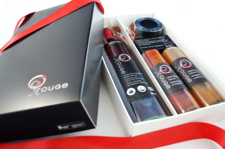 Cadeaux corporatifs haut de gamme rouGe à l'érable bio Ensemble Adoption PRESTIGE