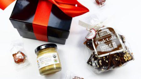 cadeaux corporatifs chic à l'érable incluant chocolat et beurre d'érable